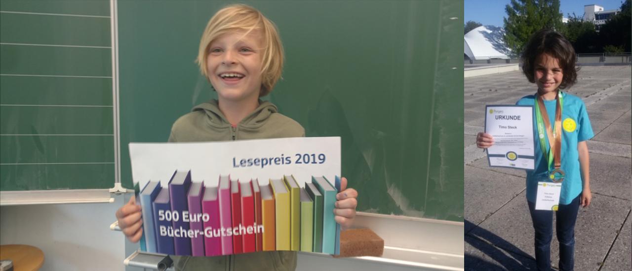 Till und Timo holen tolle Preise nach Stetten an die Lindachschule